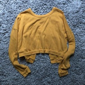 forever 21 cropped long sleeve tee